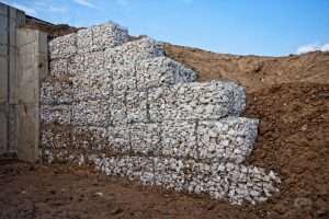 Gabions placed on each other